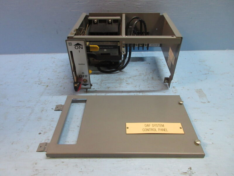 "Square D Model 5 60 Amp Breaker 9"" Motor Control MCC Feeder Bucket w/ Breaker"
