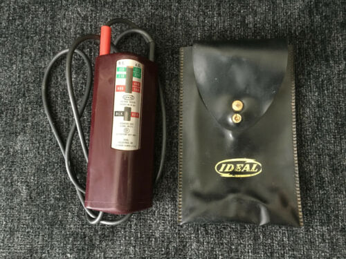 Vintage Ideal Voltage Tester Model 61-005 with Case Made in USA!!