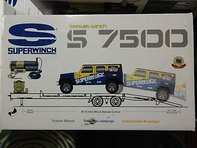SUPERWINCH S7500 Winch Wire Rope for Car trailer new in box MSRP $1000