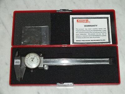 Spi Dial Caliper 35-510-11-6 Range 0.001 Rpr White Dial Made In Japan W Case