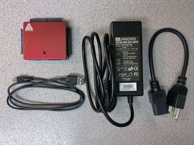 Apricorn Drive Wire Universal SATA/IDE/PATA 2.5 Or 3.5 Hard Drive To USB Adapter