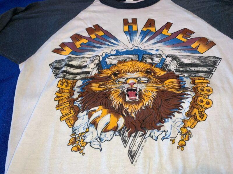 Vintage Van Halen Concert Jersey 1982 Los Angeles Forum M