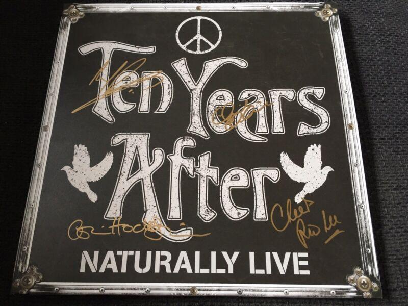 TEN YEARS AFTER signed signiert NATURALLY LIVE Vinyl Schallplatte IP LIMITIERT
