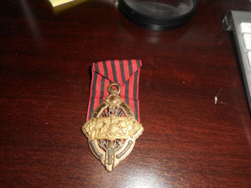 1885 German fire service badge medal , 25 years, RARE