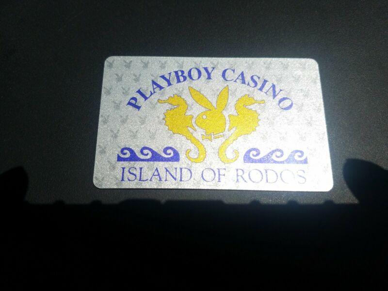 PLAYBOY CLUB CASINO RODOS GREECE SLOT CARD