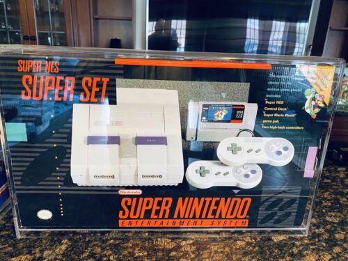 Super Nintendo Entertainment System SNES in Box Brand New! Acrylic Case!!