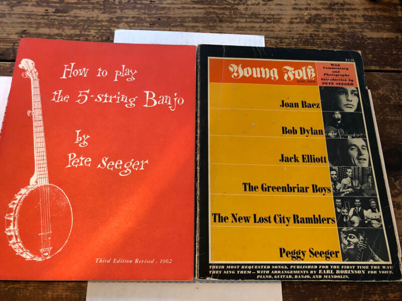 Pete Seeger Banjo 1962 How to Play the 5-string Third Edition Revised Book Bonus