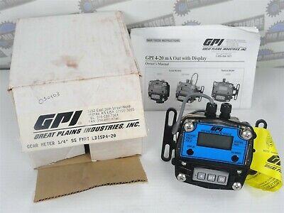 Gpi - Oval Flow Meter - Gm003s2c41-6 3.96 -132.1 Gph - 14 Npt Digital New