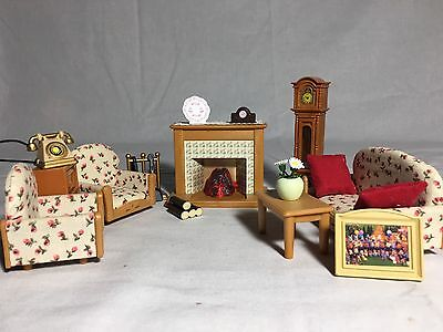 Calico critters/sylvanian families Living Room Furniture With Light-up Fireplace