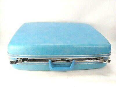 "Vintage 25"" SAMSONITE Concord Hardshell BLUE Suitcase Luggage"