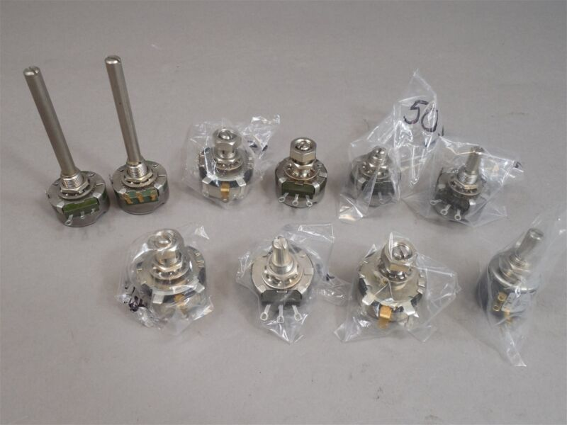 Mixed Lot of 10 Clarostat Potentiometers NEW