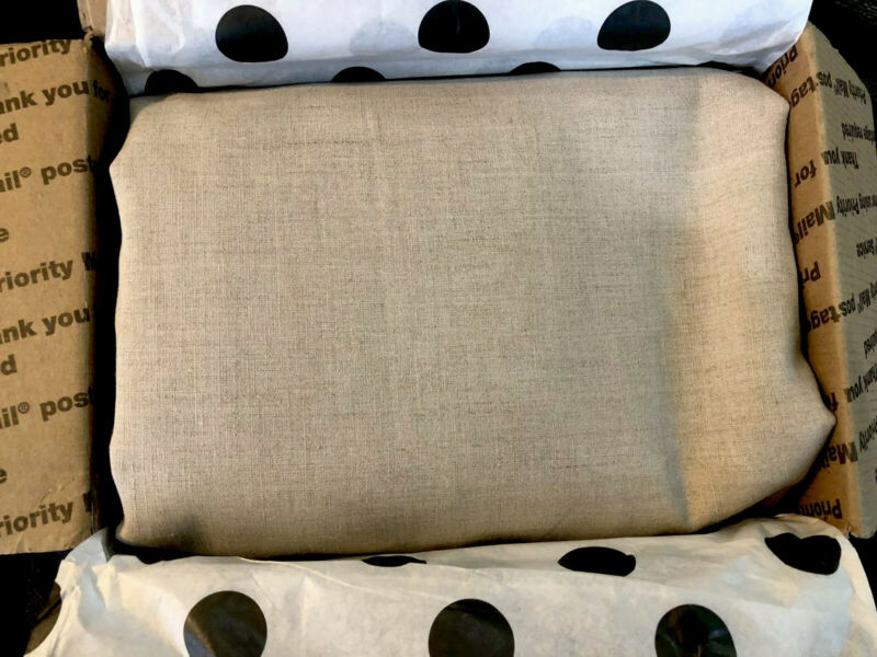 "Pratesi Italy New (3) Yards 100% Linen Flax Fabric 106"" Wide Italian Fabric"