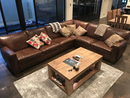Freedom hermitage leather couch