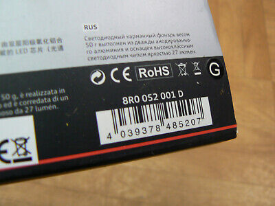 Original Audi Accesorio LED Linterna 8R0052001E A1, A3, A4, A5, A6, A7,...