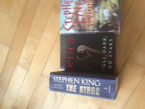 3 Stephen King hard cover