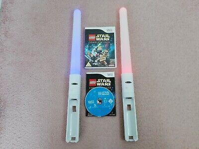 LEGO Star Wars: The Complete Saga (Nintendo Wii / Wii U) + Light-Up Lightsabers
