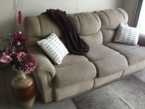 Beige couch.