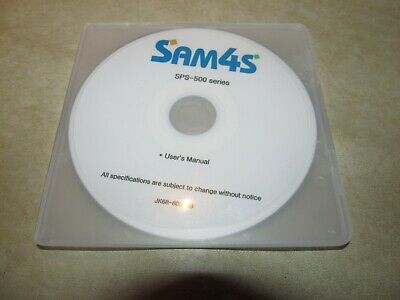 Sam4s Sps-500 Series Cash Register Users Manual On Cd-rom