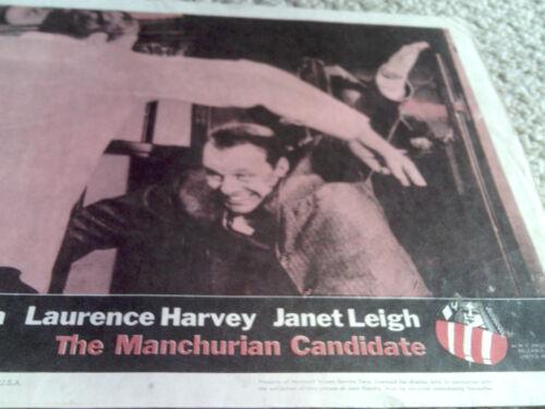 FRANK SINATRA THE MANCHURIAN CANDIDATE orig US lobby card #8 FRANKENHEIMER 1962!