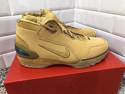 edbda766117f2 Nike Zoom Generation ASG QS Retro Lebron James Wheat Gold Mens SZ 10  AQ0110-700