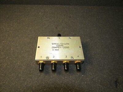 Mini-circuits Zb4pd1-2000 Power Splittercombiner 4 Way-0 50 800 To 2000 Mhz