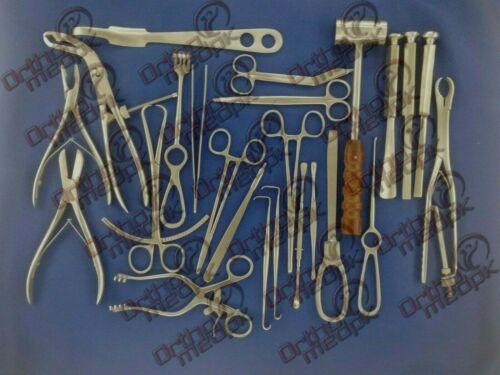 Basic Orthopedic Surgery Set of 25 Pcs Surgical instruments By TD