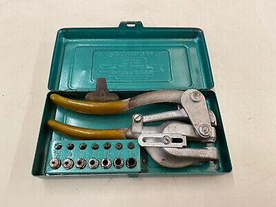 Whitney-jensen Punch No.5 Jr. Metal Hand Hole Punching Tool Original Case