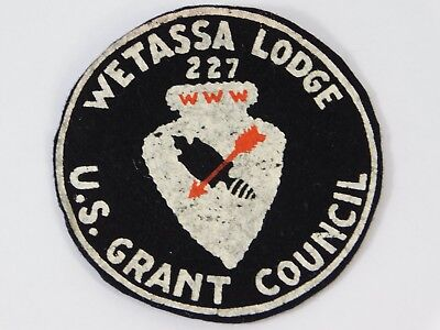 Vtg 1940s BSA OA R1 WETASSA 227 LODGE US GRANT COUNCIL FELT Patch