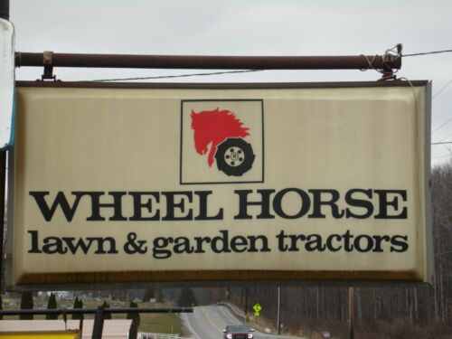 Vintage Wheel Horse Lighted Dealer Sign 6