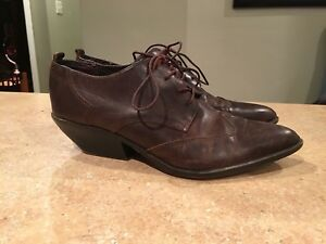 Vintage Brown Leather Heel Shoe SZ 8 1/2