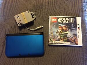 Nintendo Blue/Black Nintendo 3DS XL Console with Game