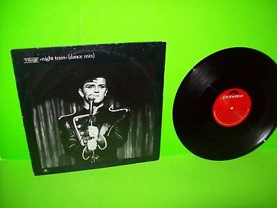 "Visage ‎– Night Train (Dance Mix) Vinyl 12"" Record EP Synth-Pop New Wave PROMO"