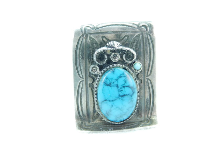 Sterling Silver Native American Turquoise Money Clip