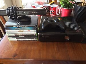 Xbox 360 w/ Kinect and 7 games
