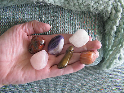 New  Positive Energy  Prosper   Empower  Crystal Healing Stone Set Of 6 Gems