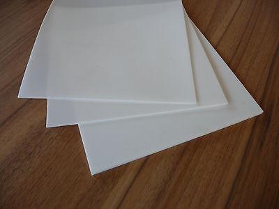 PTFE Teflon Platte Zuschnitt Dichtung weiß 195 x 195 x  1 mm