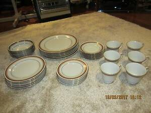 Noritake Doral Maroon 36 Piece Dinner Set Cardiff South Lake Macquarie Area Preview