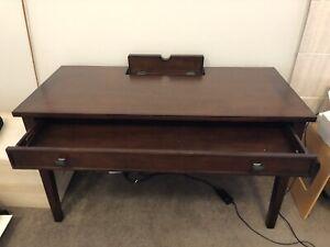 Desk mahogany finish Costco