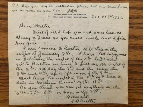 RARE Major General Smedley Butler Signed & Initialed Letter ~ December 21, 1933