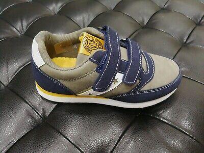 Zapatos de Niño Fred Mello Piel Rasgar 205 Gris Azul Sneakers Invierno...