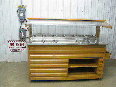 Arneg 72 Wood Olive Salad Bar Refrigerated Cold Buffet Table W New Comp 6