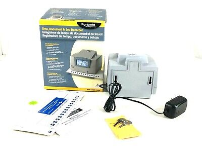 Pyramid 3500 Multi-purpose Employee Time Clock Document Stamp With Key