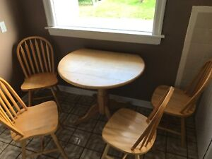 Kitchen table and 4 chairs.