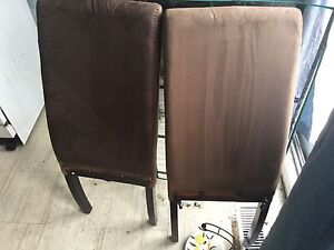 2 Brown two piece chairs