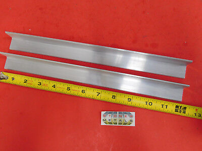 2 Pieces 1 X 1 X 18 Aluminum 6061 Angle Bar 12 Long T6 Mill Stock