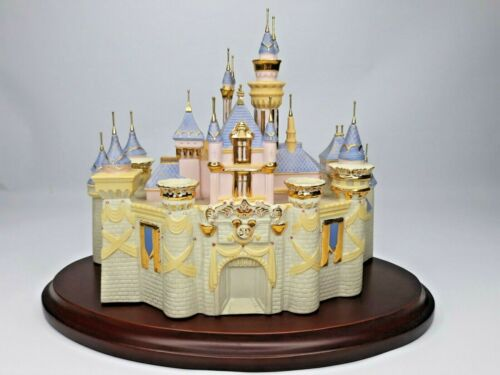 Lenox Disney Showcase  Sleeping Beauty Castle 50th Anniversary With Wood Base