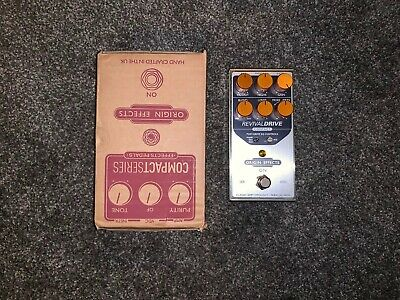 Origin Effects Revival Drive Compact Overdrive Pedal Mint Condition