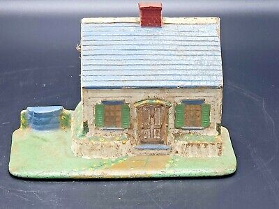 1927 A. A. Richardson Quincy Ma Cottage / House Doorstop Rare & Great Paint