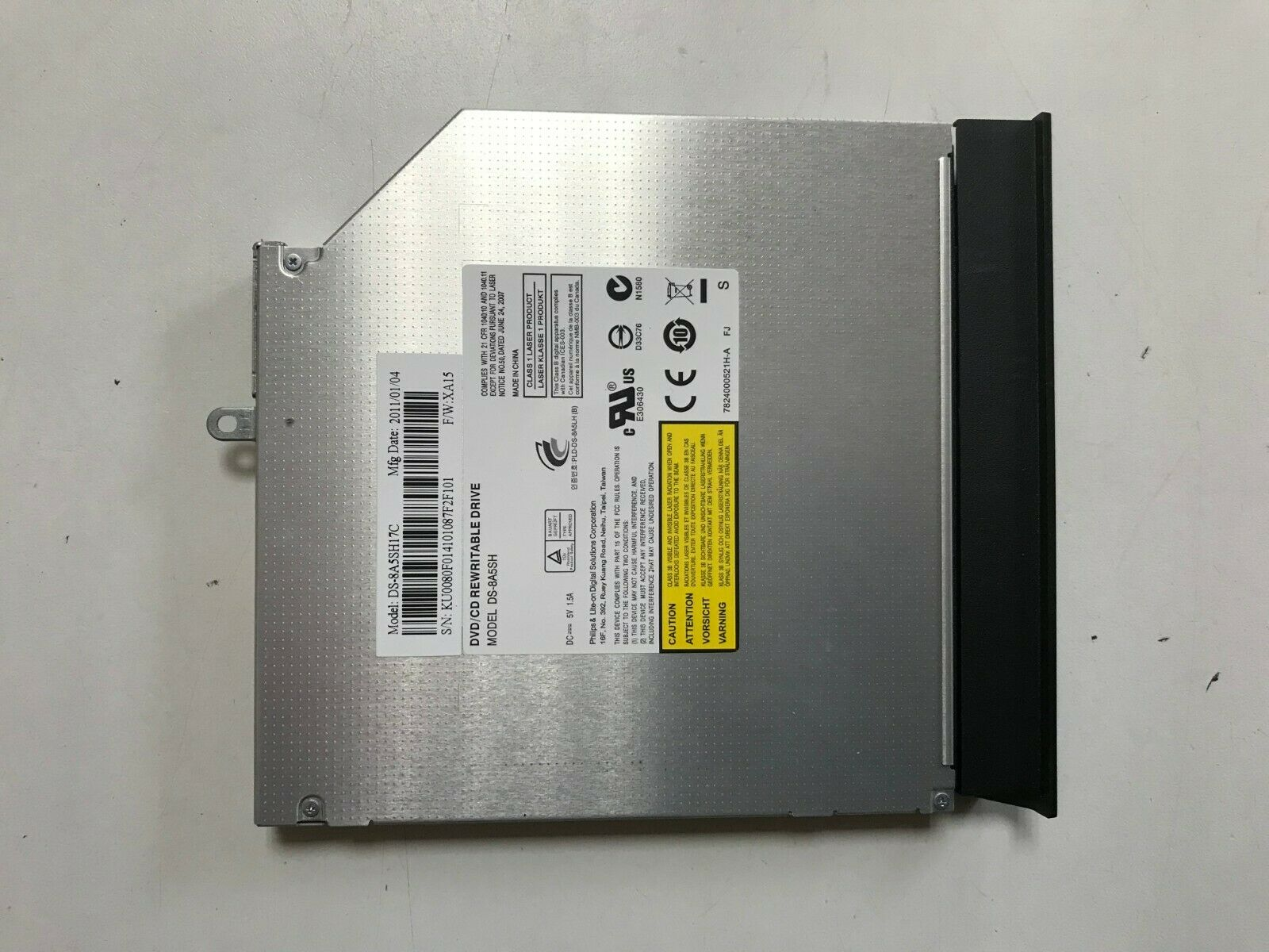 Lecteur cd dvd graveur pour ordinateur portable packard bell - easynote lm94