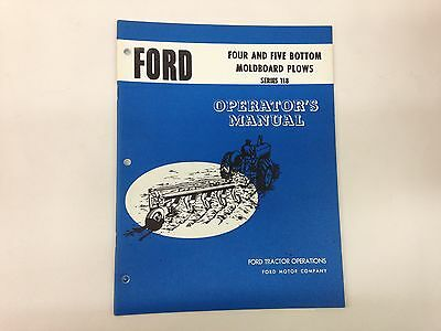 Ford Fordson Series 118 Four Five Bottom Moldboard Plow Operators Manual
